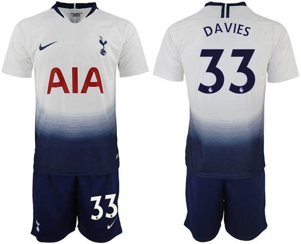 0778730edaaa0 Nīke Official Premier League Tottenham Hotspur Football Club #33 Home  2018-19 Season Men
