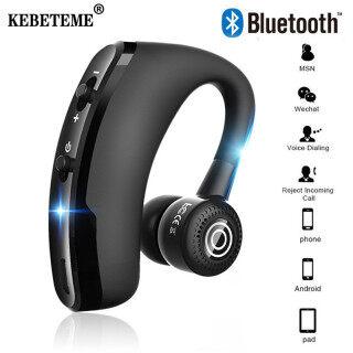 KEBETEME V9 Bluetooth Không Dây Tai Nghe Xe Hơi Tai Nghe Bluetooth Doanh Nghiệp Đơn Tai Nghe Có Mic Rảnh Tay Cho Android thumbnail