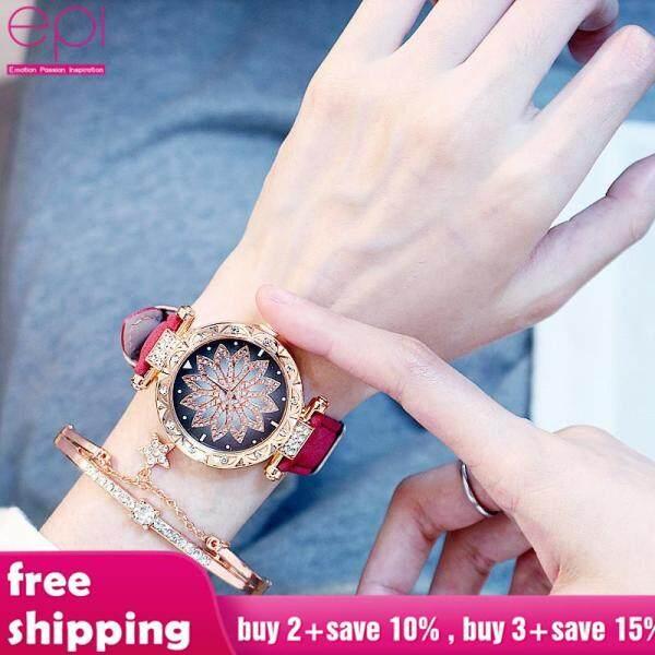 (Watch+Bracelet+Box)EPI Brand Fashion Waterproof Men Women Watch New Ins Ladies Watches For Women Man Gift Watch Malaysia