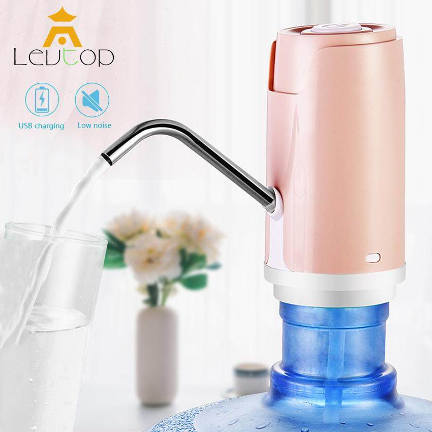 LEVTOP Electric Water Dispenser Pump Automatic Drinking Water Bottle Pump Smart Rechargeable USB Charging Wireless Pump