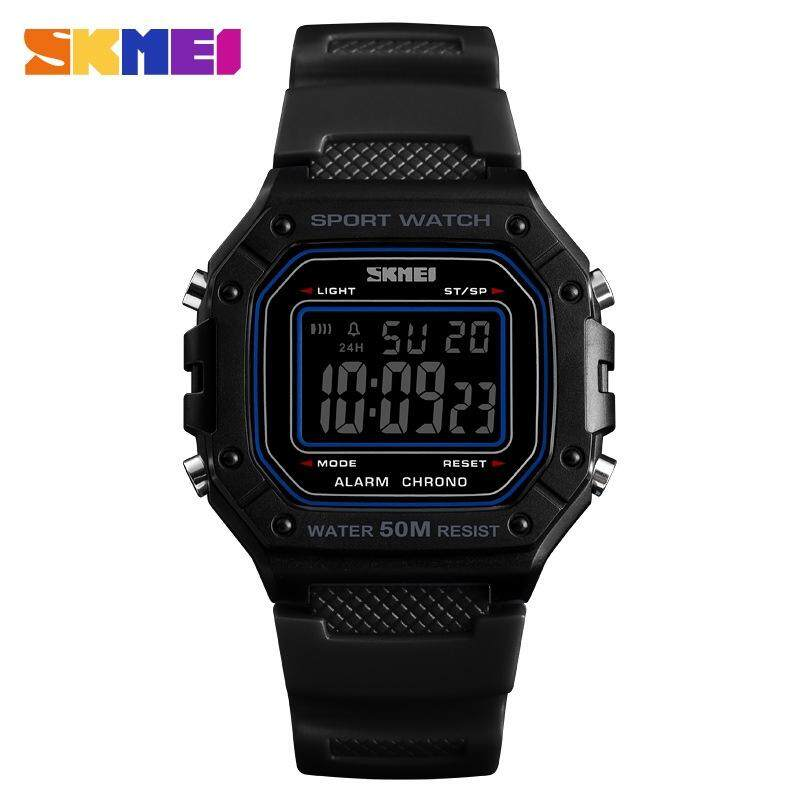 [100% Genuine] SKMEI 1496 Waterproof Male Digital Watches Sports Men's Square Watch Jam Tangan