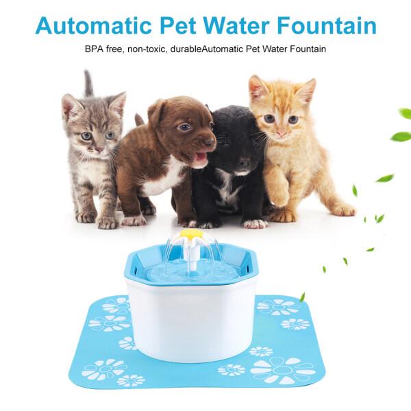 Đài Phun Nước Uống Tự Động Cho Thú Cưng 1.6L Máy Rót Nước Không Tiếng Ồn, Bình Lọc Cho Chó Mèo Chó Con Mèo Con