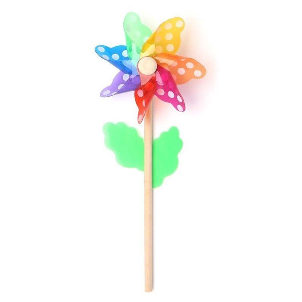 เด็กของเล่นในสวน Windmill สีสัน7ใบกลางแจ้ง.