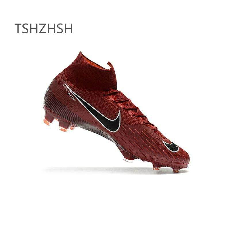 e9743e98c41 High Ankle Football Boots Superfly Original Knit 360 Elite FG Men's Soccer  Shoes XII 12 CR7 Cleats Nova Chuteira Futebol Profissional Child Adulto ...