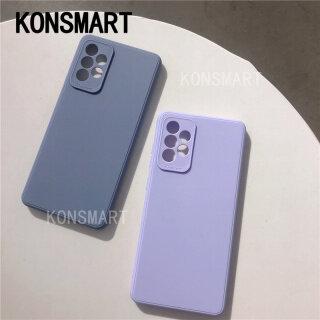 KONSMART , New 2021 Ốp Điện Thoại Cho Samsung Galaxy A52 5G A32 5G Ốp Điện Thoại Cầm Tay Mềm TPU Cảm Giác Da Samsung A72 A52 Ốp Điện Thoại Silicon TPU Màu Đơn Giản thumbnail
