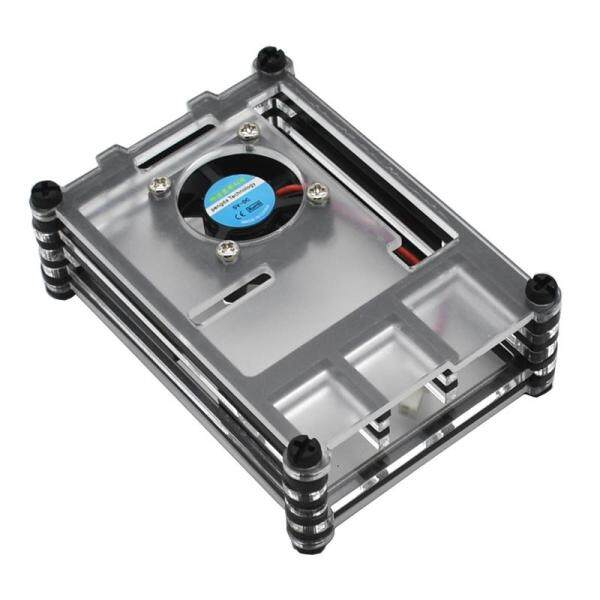 Giá Geekteches Raspberry Pi Acrylic Case with Cooling Fan for Raspberry Pi 4 Model B