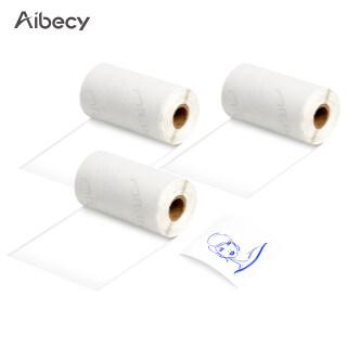 Aibecy 3 Cuộn Giấy Nhiệt Tự Dính, 50Mm 3.5M Tương Thích Với Phomemo Máy In Nhiệt M02 M02S thumbnail