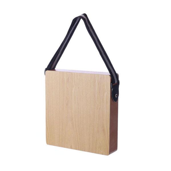 Trống du lịch Cajon boxdrum, trống âm nhạc, nhạc cụ gõ, gỗ cứng, có dây đeo