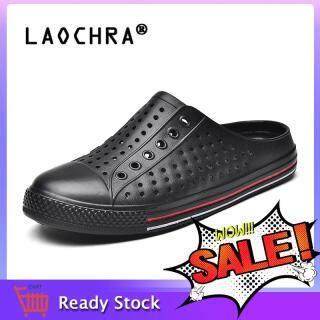 LAOCHRA Mới Cặp Đôi Giày Mùa Hè Unisex Phẳng Dép Đi Biển Thời Trang Giày Xăng Lớn Size 36-45 thumbnail