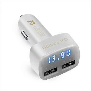Sạc Xe Hơi 4 Trong 1 Bộ Chuyển Đổi Sạc Xe Hơi USB Kép 3.1A 12V Đồng Hồ Đo Dòng Điện Nhiệt Độ Điện Áp Hiển Thị Kỹ Thuật Số, Vôn Kế Ampe Kế Máy Kiểm Tra Điện Thoại PC Với Đèn LED thumbnail