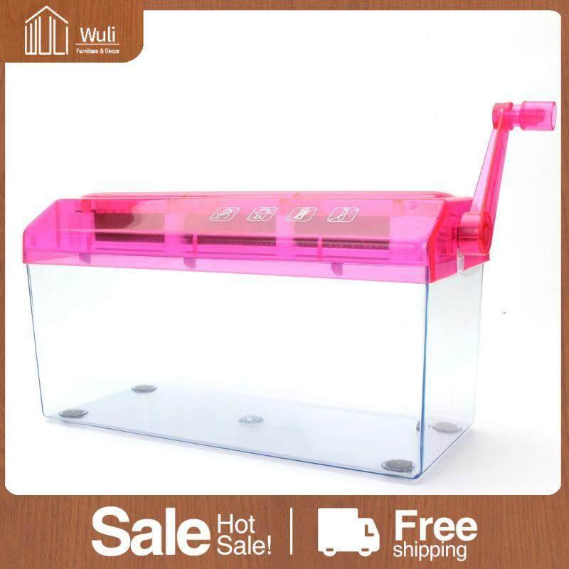 Wuli 30.5*11.6*14.5cm A6/A4 Paper Hand Shredder Portable Desktop Hand Paper Shredder for School Office