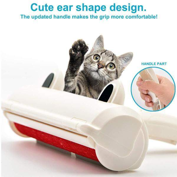 Con Lăn Tẩy Lông Thú Cưng Tái Sử Dụng, Dụng Cụ Lược 2 Chiều Cho Chó Mèo Bàn Chải Xơ Vải Tự Làm Sạch Đồ Nội Thất Pet Tóc Remover