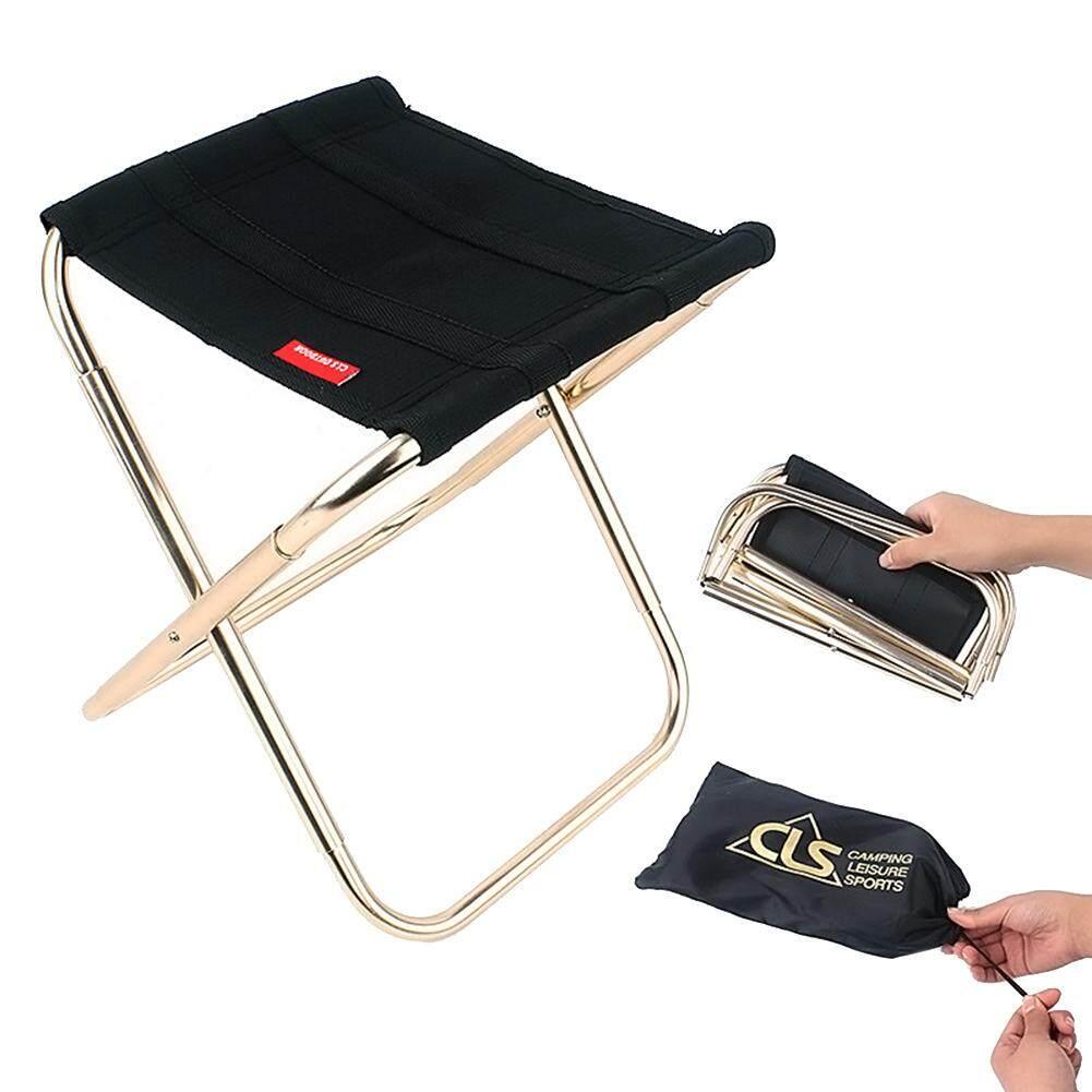 Lifly Aluminum Alloy Fishing Folding Stool Folding Chair Beach Chair Practical Small Stool
