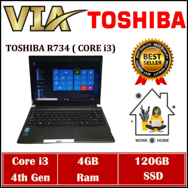 【READY STOCK】LIGHTWEIGHT TOSHIBA R734~CORE i3-4th Gen~4GB RAM~120GB / 240GB SSD~WIN 10 Malaysia