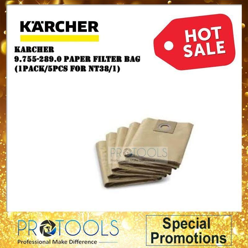 KARCHER 9.755-289.0 PAPER FILTER BAGS (5 PCS) FOR NT38/1