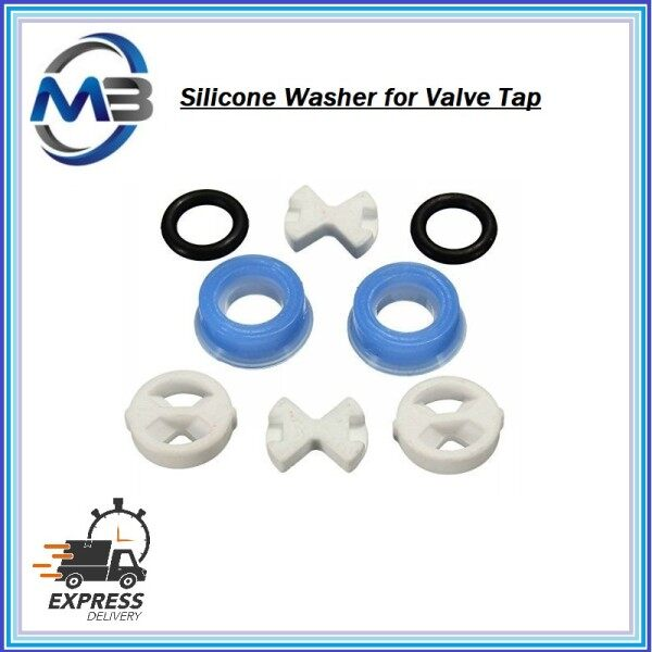 1/2 Replacement Ceramic Disc & Silicon Washer insert Turn Set for Valve Tap