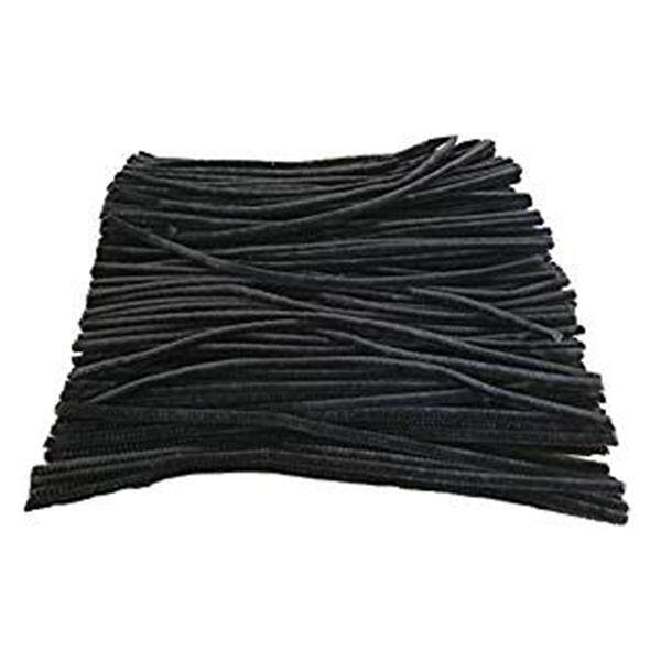 100 Pcs 30cm Black pipe cleaners