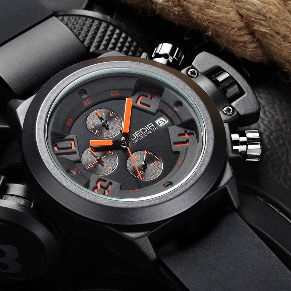 [100% Authentic] JEDIR Brand  Multi-function Sport Quartz Watches for Men Chronograph Luxury Original 126901(Black) Malaysia