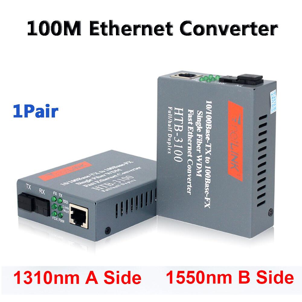 Giá 1 * Sợi Điện HTB-3100AB-25KM Sợi Quang HTB-3100 100M 25Km Sợi Quang Học Truyền Thông Chuyển Đổi Ethernet Chuyển Đổi Bộ Thu Phát