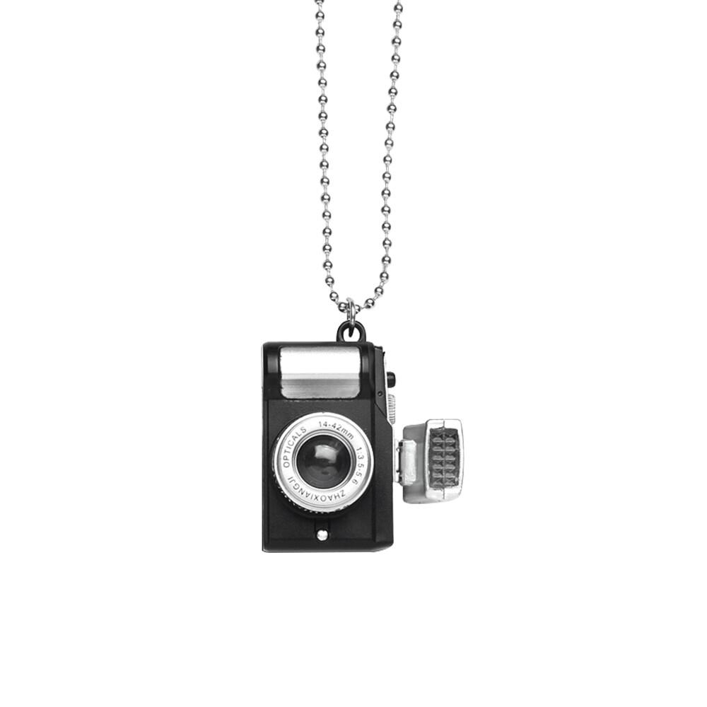 Vòng cổ có mặt dây chuyền hình máy ảnh mang phong cách hiphop hoài cổ dành cho nam và nữ, phụ kiện cho cổ - INTL