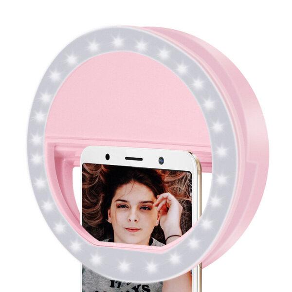 Đèn Vòng LED Đèn Tròn Điện Thoại Di Động Máy Tính Xách Tay Máy Ảnh Chụp Ảnh Video Chiếu Sáng Clip Trên Đèn Ảnh Có Thể Sạc Lại
