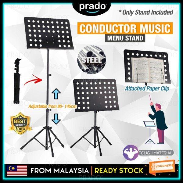 PRADO Malaysia Conductor Sheet Holder Stand Adjustable Height 80-145cm Heavy Duty Foldable Music Menu Base Tripod Orchestral Malaysia