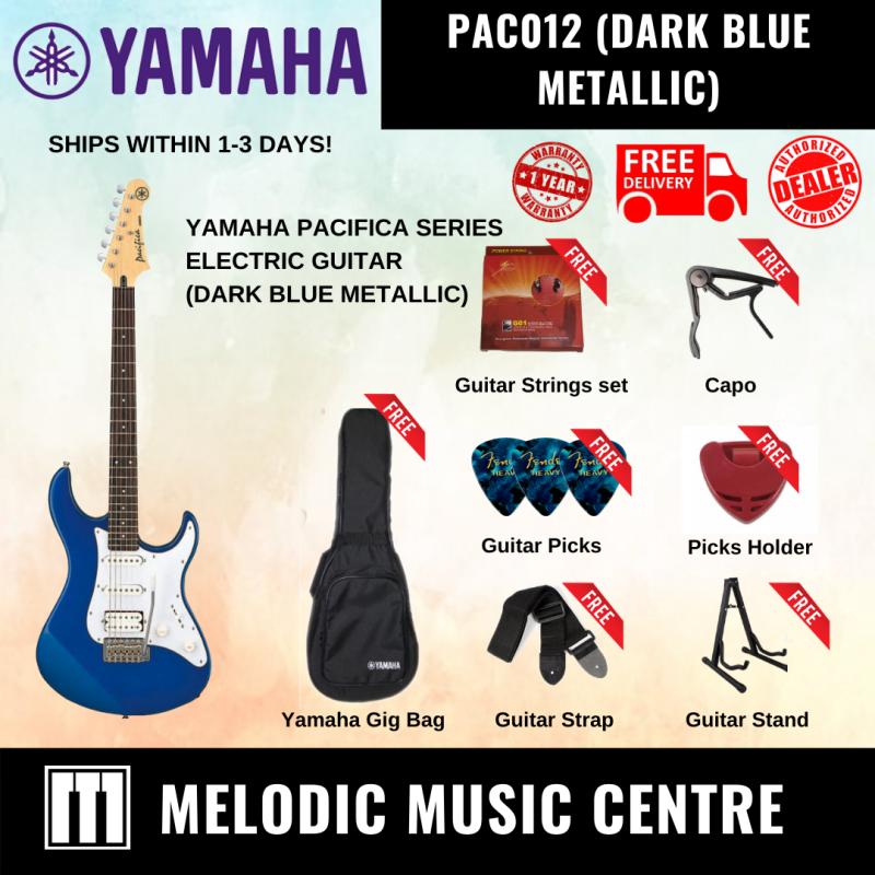 YAMAHA PAC012 Double Cutaway Electric Guitar Pacifica Series DARK BLUE METALLIC BUNDLE READY STOCK (PAC-012 / PAC 012 / YAMAHA ELECTRIC GUITAR) Malaysia
