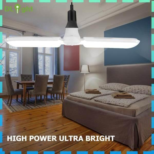 【Dlight】quạt Đèn LED Gara Bóng Đèn Trần Công Nghiệp Biến Dạng Gấp Gọn Cho Nhà Máy Cho Nhà Để Xe