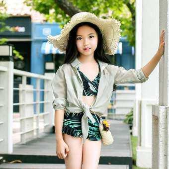 Long-Sleeved Swimwear Princess Swimsuit Children's Bikini Cute Korean Swimwear