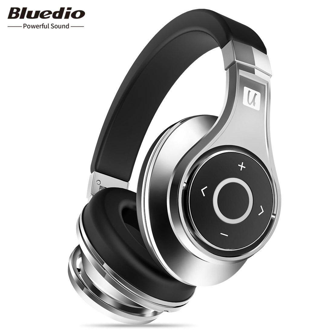 Bluedio UFO Headphone Bluetooth Headset Nirkabel dengan MIC (Hitam/Perak)