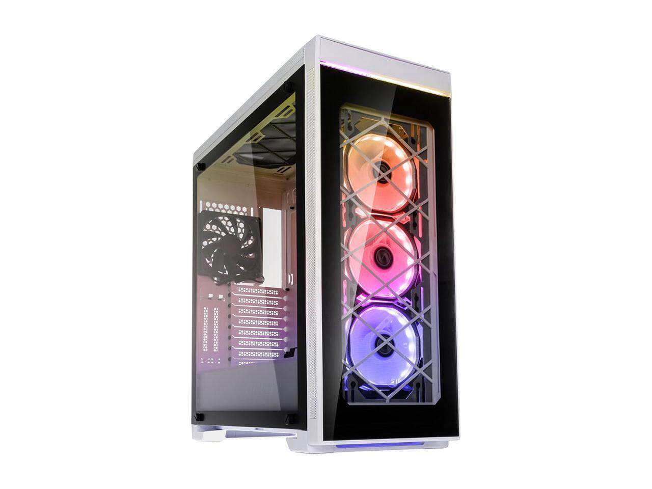 # LIAN LI ALPHA 550X SECC E-ATX Full Tower Case Computer Case 3x BORA FAN (INCLUDED) # Black | White Malaysia