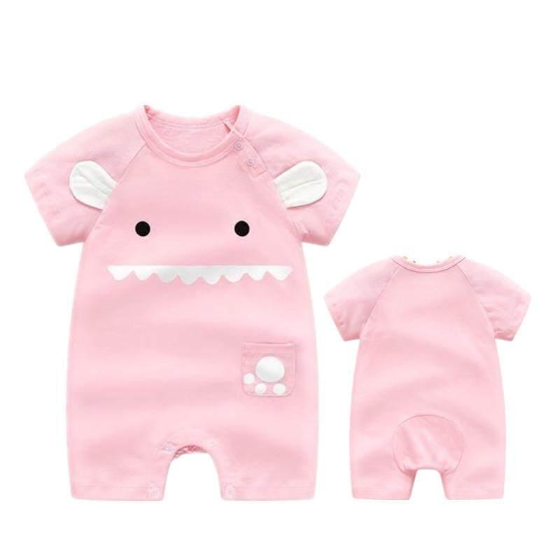 Image 2 for ใหม่ล่าสุดน่ารักทารกแรกเกิดบาง Bodysuits Baby PURE ผ้าฝ้ายแขนสั้นเปิดคลานเสื้อผ้า