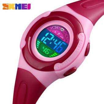 SKMEI เด็กนักเรียนกีฬากีฬาสไตล์นาฬิกานาฬิกาข้อมือเด็กแฟชั่นชายหญิงนาฬิกาอิเล็กทรอนิกส์เด็กนาฬิกาดิจิตอล LED