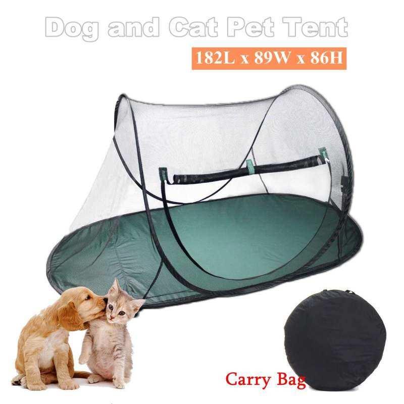 182X89X86Cm Pet Chó Mèo Mềm Bao Vây Ngoài Trời Lồng Di Động Chơi Lưới Lều Xếp Playpen Puppy Cũi Hàng Rào Nguồn Điện Ngoài Trời