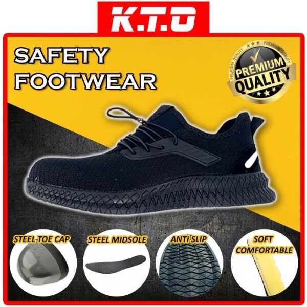 ANTI SLIP SAFETY SHOE LOW CUT with STEEL TOE CAP STEEL MIDSOLE (RECOMMENDED TO TAKE EXTRA +1 SIZE THEN USUAL) / KASUT KESELAMATAN