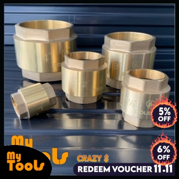 Mytools 4 3 2 1-1/2 1 Inch 100mm 80mm 50mm 40mm 25mm Brass Copper Non No Return Check Valve Heavy Duty