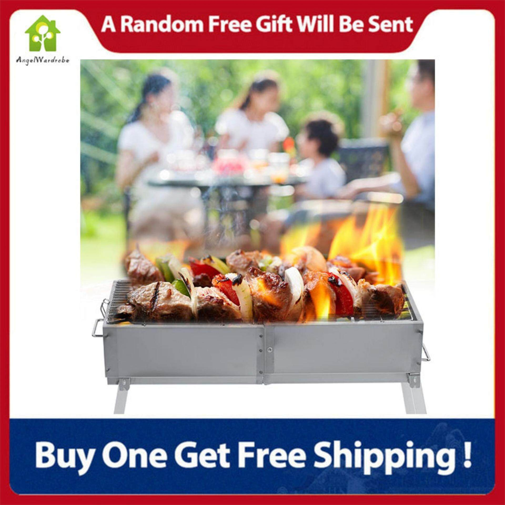 Stainless Steel Foldable Portable BBQ Charcoal Grill Outdoor Camping Stove(80*30*78cm)