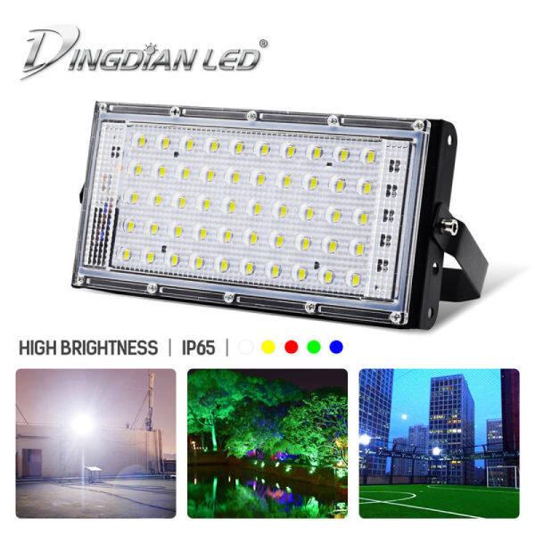 Đèn Pha LED DINGDIAN 220V Đèn Led Ngoài Trời IP66 Chống Nước 50W Đèn Pha Hoàn Hảo