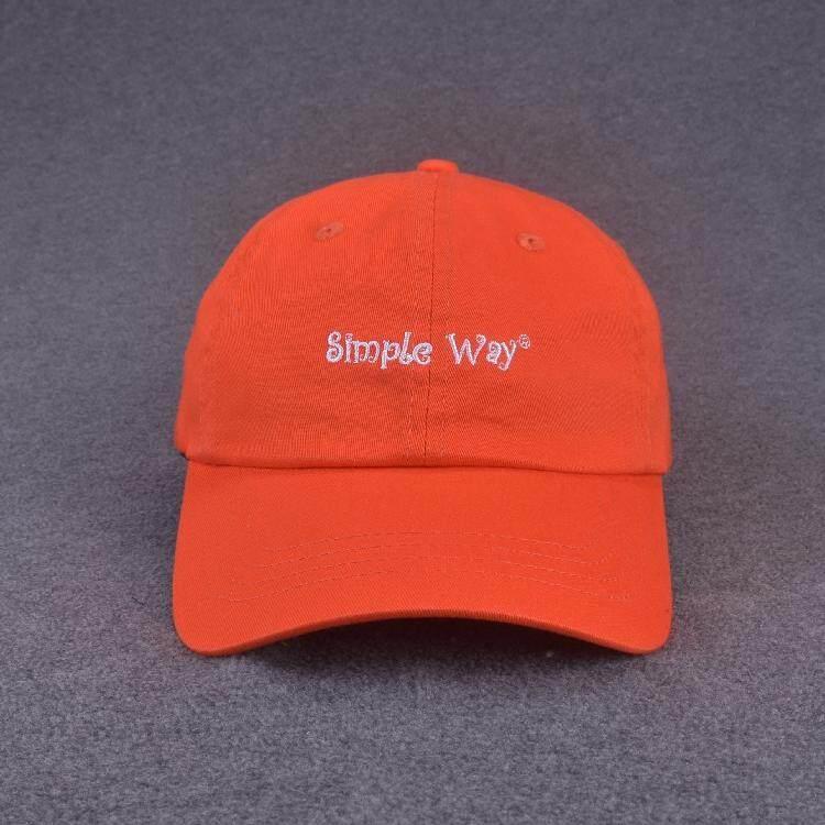 2a86568d Korean Style Men And Women Thin Cotton Orange Hat Baseball Cap INS Brim Hat  Leisure Spring
