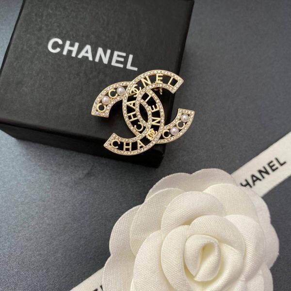 Trâm Cài Tóc Chanel Pearl Double C 2020 Cho Nữ Phụ Kiện Pin Cao Cấp Bộ Vest Áo Len Cổ Điển Phụ Kiện Pin