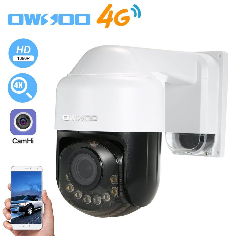 OWSOO 1080P Security Camera IP Camera Home Surveillance Outdoor Monitor Cell App Two Way Audio PTZ Night Vision TF Card Slot Motion Alarm 2.8-12mm Optical Zoom Lens Supports 4G US