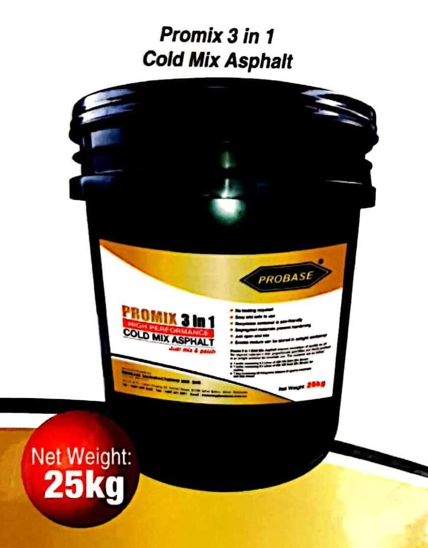 25Kg {PROBASE} 3 in1 COLD MIX ASPHALT,DIY Repair JALAN TAR,CAR PARK or DRIVEWAY,POTHOLE REPAIR,ROAD SURFACING泊油路修复