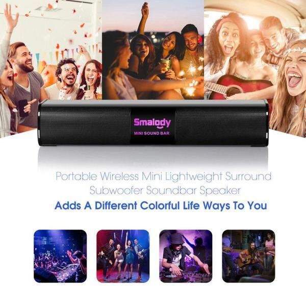 Bsex portable wireless 3D Bluetooth wireless connection speaker 10W colorful LED lights audio mini bar speaker 2000mAh hands-free Mic U disk TF card