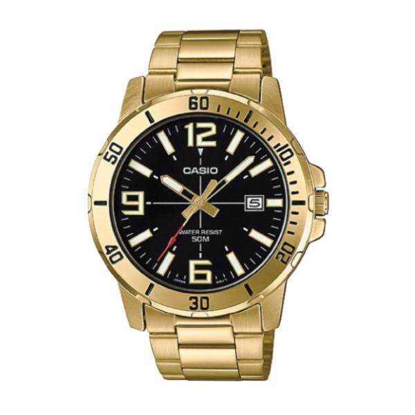 Casio Mens Diver Look Gold Tone Stainless Steel Band Watch MTPVD01G-1B MTP-VD01G-1B (watch for man / jam tangan lelaki / men watch / watch for men / casio watch for men / casio watch) Malaysia