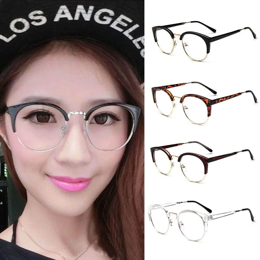Jalan Chic Plain Kacamata Bingkai Logam Tahan Lama Anti-Kacamata Radiasi Mata Kucing Kacamata Optik