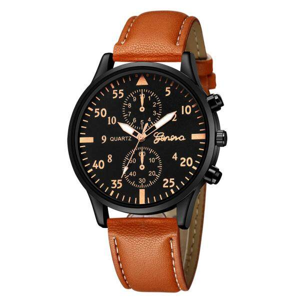 SNKJKW B Fashion Mens Leather Military Alloy Analog Quartz Wrist Watch Business Watches watch for men original automatic 2021 sale branded classic korean style digital high quality Malaysia
