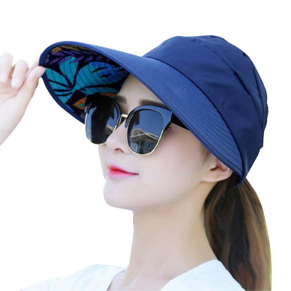 76d17102 Gdworld Summer Sun Protection Folding Sun Hat for Women Wide Brim UV  Protection Sun Hat Outdoor