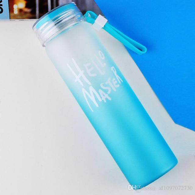 fe04b17585 480ml Transparent Leakproof Style BPA-Free Glass Drinking Bottle Frosted  Colourful Drinkware Sports School Gelas