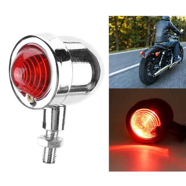 Đèn LED Đuôi Xe Đạp Thông Dụng 12V Đèn Hậu Tín Hiệu Phanh (Vỏ Màu Đỏ Vỏ Bạc)