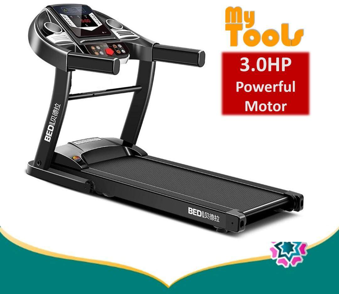 Bedl 3.0hp Motorized Folding Treadmill Running Machine - 1 Year Warranty By Mytools Marketing.